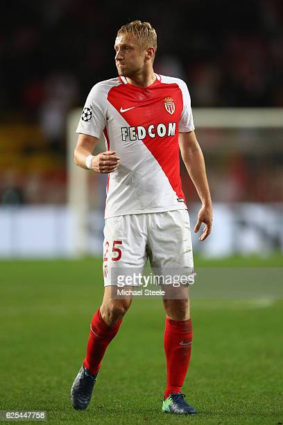 Kamil Glik of Monaco during the UEFA Champions League Group E match between AS Monaco FC and Tottenham Hotspur FC at Louis II Stadium on November 22...