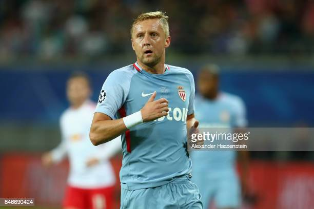 Kamil Glik of Monaco looks on during the UEFA Champions League group G match between RB Leipzig and AS Monaco at Red Bull Arena on September 13 2017...