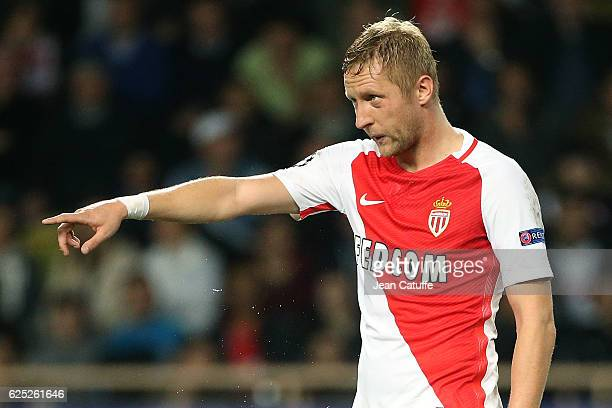 Kamil Glik of Monaco looks on during the UEFA Champions League match between AS Monaco FC and Tottenham Hotspur FC at Stade Louis II on November 22...