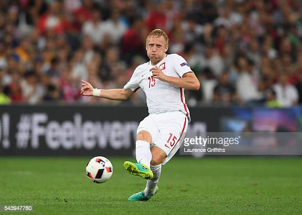 Kamil Glik of Poland in action during the UEFA EURO 2016 quarter final match between Poland and Portugal at Stade Velodrome on June 30 2016 in...