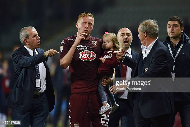 Kamil Glik of Torino FC salutes at the end of the Serie A match between Torino FC and AC Cesena at Stadio Olimpico di Torino on May 31 2015 in Turin...