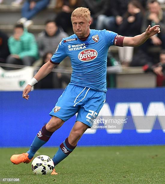 Kamil Glik of Torino in action during the Serie A match between US Sassuolo Calcio and Torino FC at Mapei Stadium Città del Tricolore on April 19...