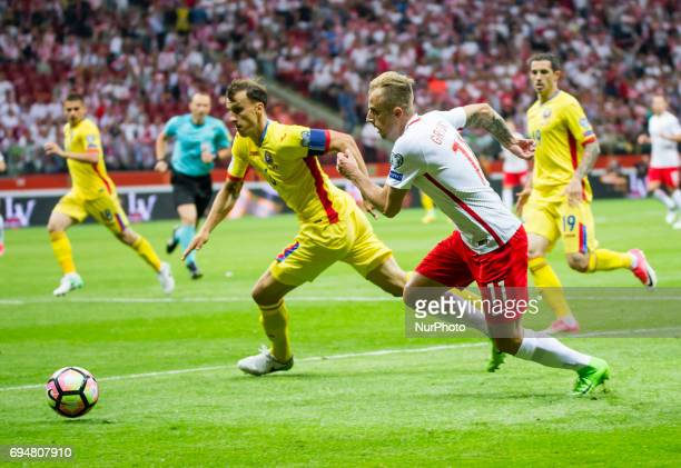 Kamil Grosicki during the 2018 World Cup Qualifying Match Poland vs Romania 10 June Warsaw Poland