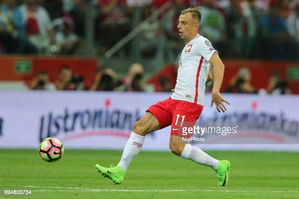 Kamil Grosicki during the FIFA World Cup 2018 qualification football match between Poland and Romania in Warsaw Poland on June 10 2017