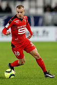 Kamil Grosicki for Rennes in action during the French Ligue 1 match between FC Girondins de Bordeaux and Stade Rennais at Stade Matmut Atlantique on...