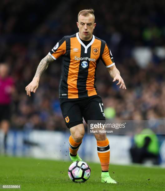 Kamil Grosicki of Everton during the Premier League match between Everton and Hull City at Goodison Park on March 18 2017 in Liverpool England