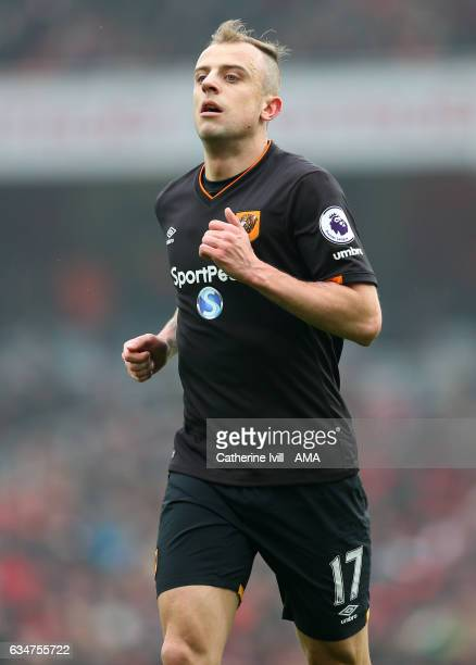 Kamil Grosicki of Hull City during the Premier League match between Arsenal and Hull City at Emirates Stadium on February 11 2017 in London England