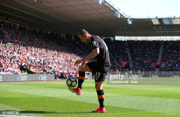 Kamil Grosicki of Hull City during the Premier League match between Southampton and Hull City at St Mary's Stadium on April 29 2017 in Southampton...