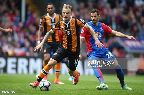 Kamil Grosicki of Hull City during the Premier League match between Crystal Palace and Hull City at Selhurst Park on May 14 2017 in London England