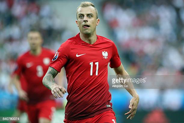 Kamil Grosicki of Poland in action during the UEFA EURO 2016 Group C match between Germany and Poland at Stade de France on June 16 2016 in Paris...