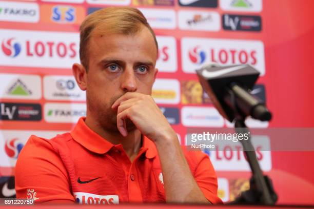 Kamil Grosicki press conference before Poland Romania World CUp 2018 qualifier matchon Warsaw Poland on 1 June 2017
