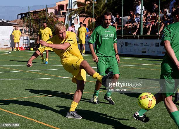 Kamil Jacek Glik in action during the Porto Cervo Summer 2015 Fiveaside Football Tournament Day One on June 24 2015 in Porto Cervo Italy