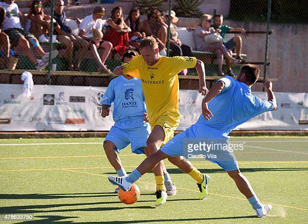 Kamil Jacek Glik in action during the Porto Cervo Summer 2015 Fiveaside Football Tournament Day One on June 26 2015 in Porto Cervo Italy