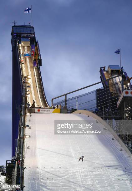Kamil Stoch of Poland competes during the FIS Nordic World Ski Championships Men's Team Ski Jumping HS130 on March 4 2017 in Lahti Finland
