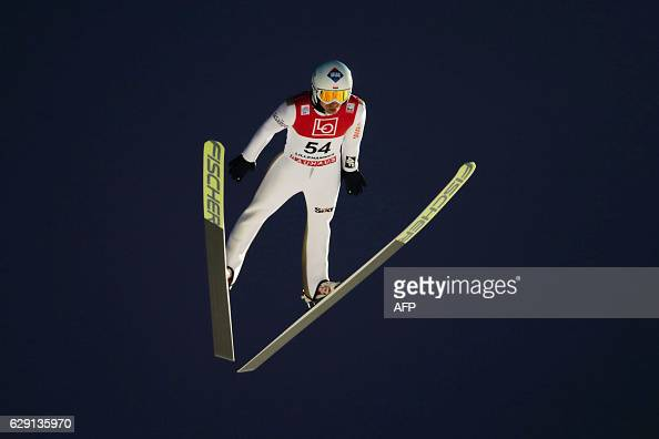 Kamil Stoch of Poland competes during the FIS World Cup Ski Jumping HS 138 competition on December 11 2016 in Lillehammer Norway Scanpix / Geir OLSEN...