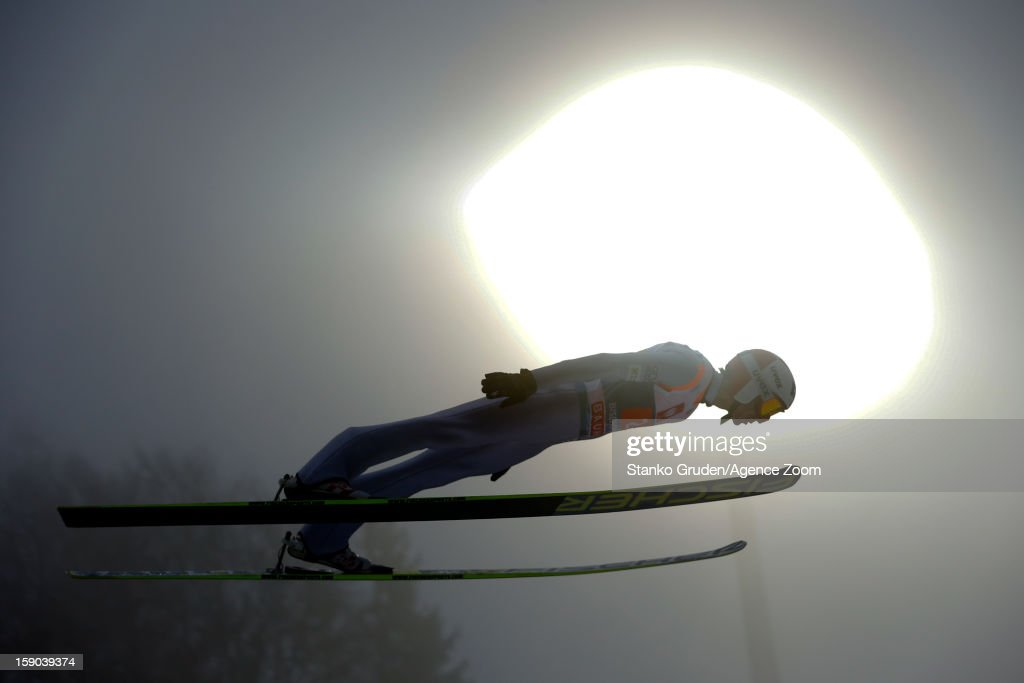 Kamil Stoch of Poland during the FIS Ski Jumping World Cup Vierschanzentournee on January 06 2013 in Bischofshofen Austria