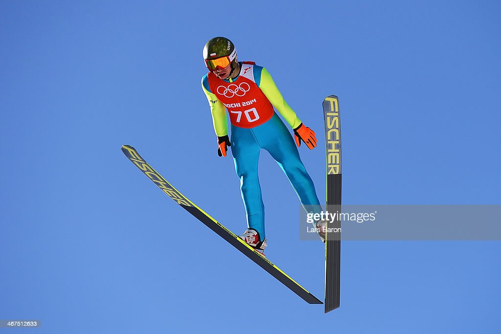 <a gi-track='captionPersonalityLinkClicked' href=/galleries/search?phrase=Kamil+Stoch&family=editorial&specificpeople=820513 ng-click='$event.stopPropagation()'>Kamil Stoch</a> of Poland jumps during the Men's Normal Hill Individual training ahead of the Sochi 2014 Winter Olympics at the RusSki Gorki Ski Jumping Center on February 7, 2014 in Sochi, Russia.