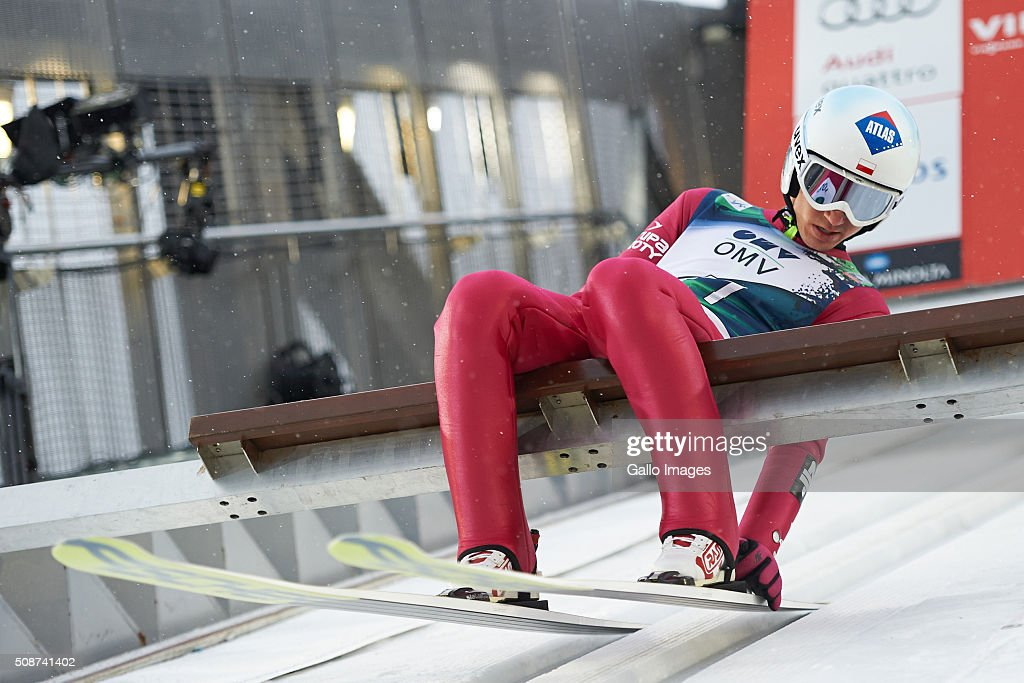 Kamil Stoch of Poland prepares to compete during the FIS Ski Jumping World Cup MenÕs HS134 Qualification on February 5, 2016 in Oslo, Norway. FIS is the governing body for international skiing and snowboarding.
