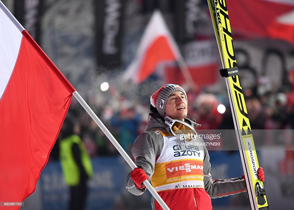 Image result for Poland's Kamil Stoch won Sunday ski jumping competition