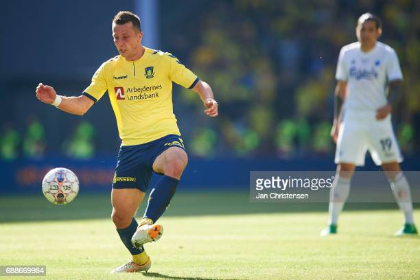 Kamil Wilczek of Brondby IF controls the ball during the Danish Cup Final DBU Pokalen match between FC Copenhagen and Brondby IF at Telia Parken...