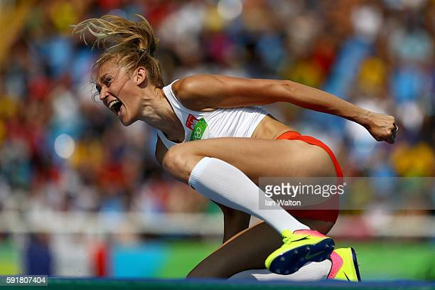 Kamila Licwinko of Poland competes in Women's High Jump Qualifying on Day 13 of the Rio 2016 Olympic Games at the Olympic Stadium on August 18 2016...