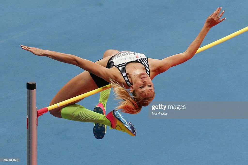 Kamila Licwinko of Poland competes the athletics meeting of Kamila Skolimowska at the National Stadium in Warsaw Poland on August 28 2016