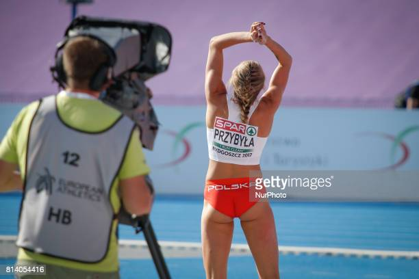 Kamila Przybyla from Poland competes in women's pole vault qualification round during the IAAF World U20 Championships at the Zawisza Stadium on July...
