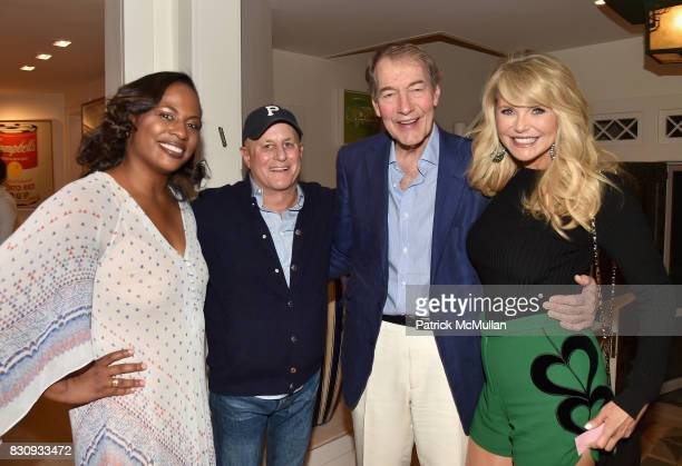Kamilah Forbes Ronald O Perelman Charlie Rose and Christie Brinkley attend Apollo in the Hamptons at The Creeks on August 12 2017 in East Hampton New...