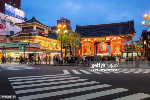 Kaminarimon gate at Asakusa temple