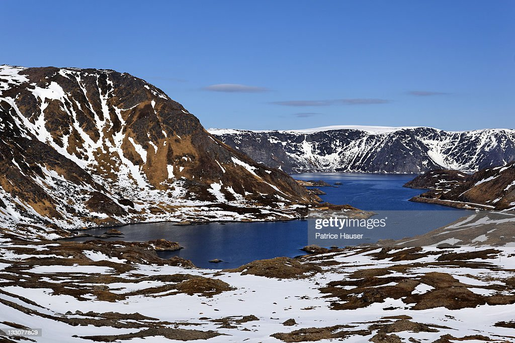 Kamoyfjorden, Mageroya island, close to North Cape : Stock Photo