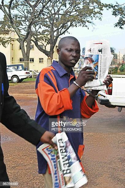 Lieutenant Jean Paul Bizimana a Rwandan Intarahamwe soldier accused of masterminding the massacre of nine foreign tourists in Bwindi Impenetrable...