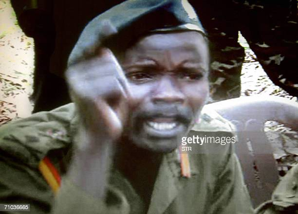 This grab picture made available 24 May 2006 by the Monitor media group in Kampala Uganda shows one of the world most wanted rebel chief Joseph Kony...