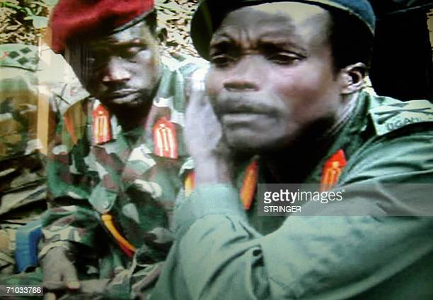 This picture made available 24 May 2006 by the Monitor media group in Kampala Uganda shows one of the world most wanted rebel chief Joseph Kony of...