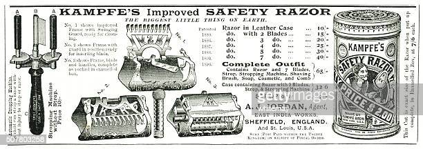 Kampfe's safety razor advert from Punch magazine 1897