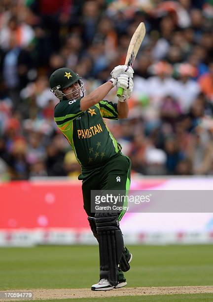 Kamran Akmal of Pakistan bats during the ICC Champions Trophy match between India and Pakiatan at Edgbaston on June 15 2013 in Birmingham England