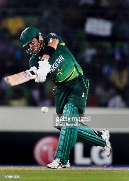 Kamran Akmal of Pakistan batsduring the first quarterfinal match of the ICC Cricket World Cup between Pakistan and West Indies at ShereeBangla...