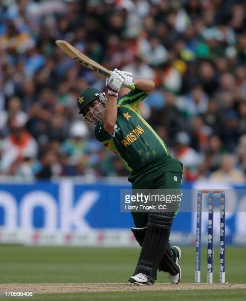 Kamran Akmal of Pakistan hits out during the ICC Champions Trophy group A match between India and Pakistan at Edgbaston on June 15 2013 in Birmingham...