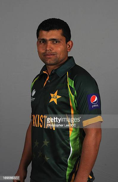 Kamran Akmal of Pakistan poses during a Pakistan Portrait Session at the Hyatt Hotel on May 28 2013 in Birmingham England