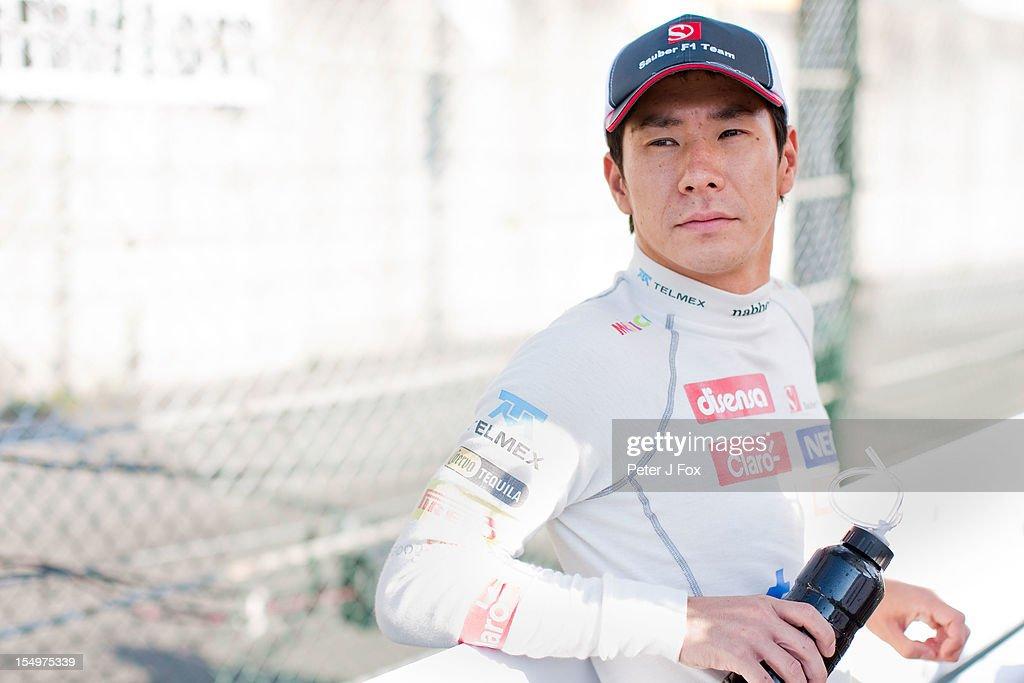 Kamui Kobayashi of Japan and Sauber during the Japanese Formula One Grand Prix at the Suzuka Circuit on October 7, 2012 in Suzuka, Japan.