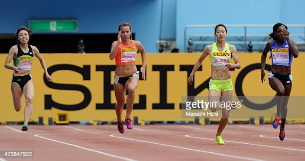 Kana Ichikawa Olga Safronova Chisato Fukushima and Tiffany Tounsend compete in the 200m during the Seiko Golden Grand Prix Tokyo 2015 at Todoroki...