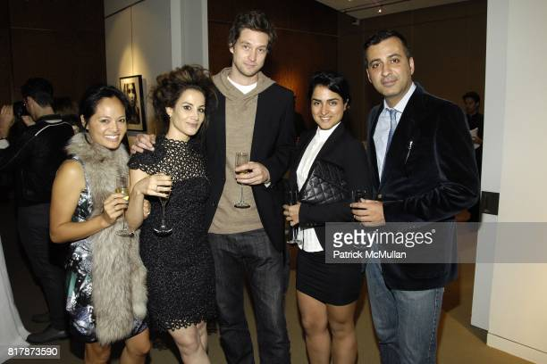 Kana Manglapus Gabrielle Revere Jason Cannon Leyla Abedi Mazdack Razzi attend the 'I Remain You Desire' Reception at Sotheby's hosted by MARY ALICE...