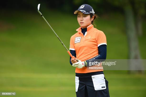 Kana Mikashima of Japan looks on during the first round of the Suntory Ladies Open at the Rokko Kokusai Golf Club on June 8 2017 in Kobe Japan