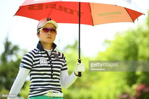 Kana Mikashima of Japan looks on during the second round of the Earth Mondamin Cup at the Camellia Hills Country Club on June 23 2017 in Sodegaura...