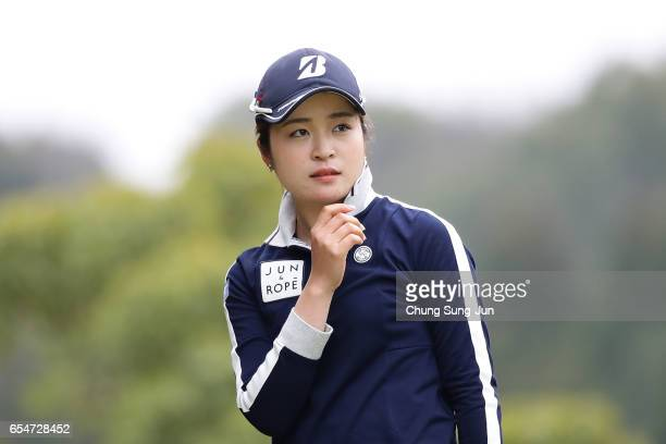 Kana Mikashima of Japan on the 5th hole in the second round during the TPoint Ladies Golf Tournament at the Wakagi Golf Club on March 18 2017 in Aira...