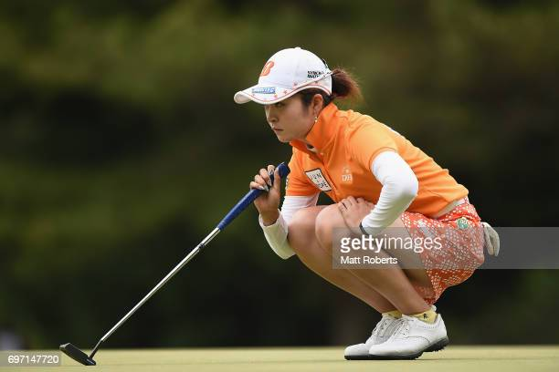 Kana Mikashima of Japan prepares to putt during the final round of the Nichirei Ladies at the on June 18 2017 in Chiba Japan