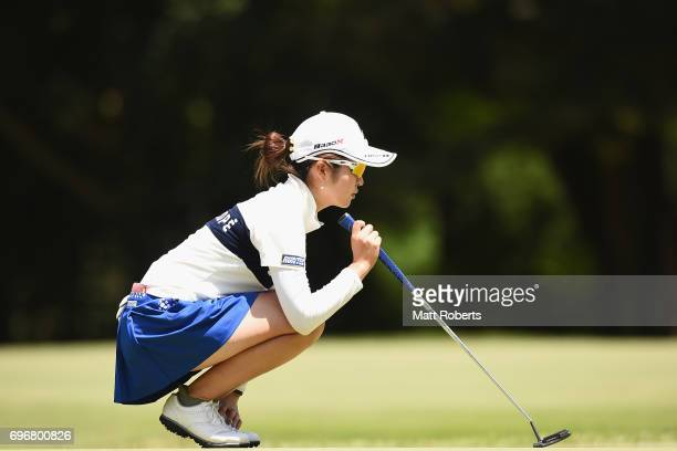 Kana Mikashima of Japan prepares to putt on the 11th green during the second round of the Nichirei Ladies at the on June 17 2017 in Chiba Japan
