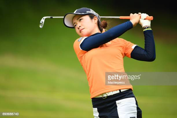 Kana Mikashima of Japan shots during the first round of the Suntory Ladies Open at the Rokko Kokusai Golf Club on June 8 2017 in Kobe Japan
