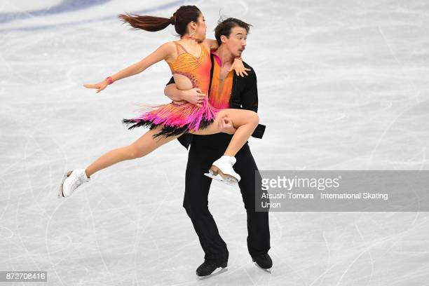 Kana Muramoto and Chris Reed of Japan compete in the Ice dance short dance during the ISU Grand Prix of Figure Skating at on November 11 2017 in...