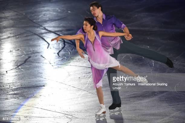Kana Muramoto and Chris Reed of Japan perform in the gala exhibition during the ISU Grand Prix of Figure Skating at Osaka municipal central gymnasium...