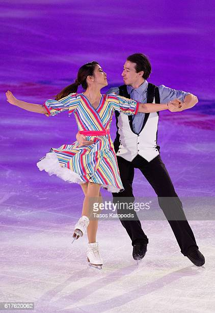 Kana Muramoto and Chris Reed of Japan preform at the Smucker's Skating Spectacular at 2016 Progressive Skate America at Sears Centre Arena on October...